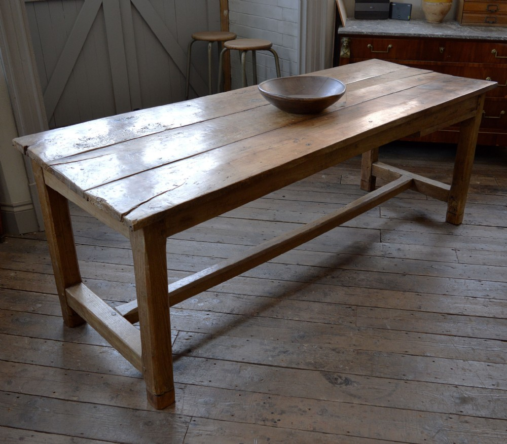 french 18th century cherry elm refectory table