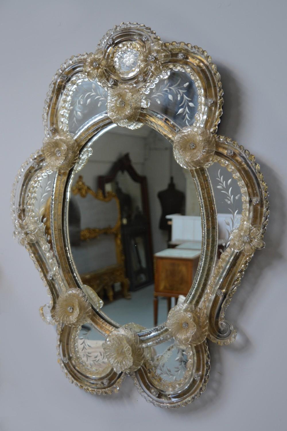italian early 20th century venetian wall mirror