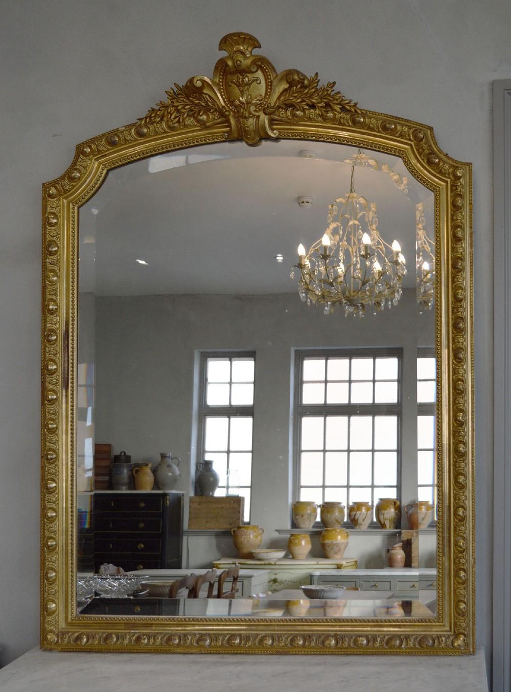 large french mid 19th century napoleon iii gilt mirror