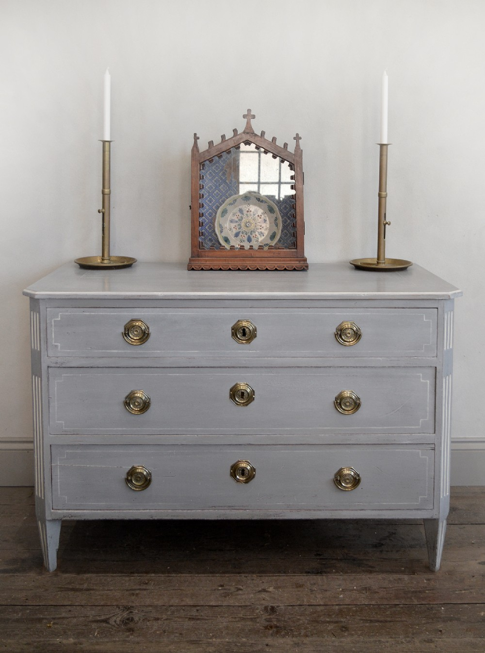 18th century swedish gustavian hand painted commode
