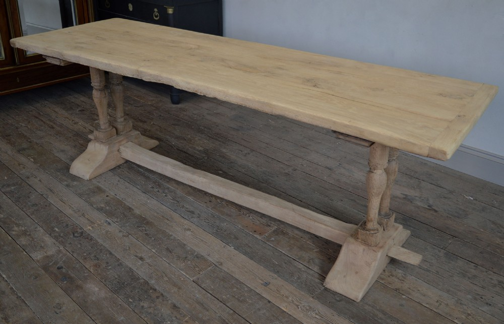 french 19th century large heavy oak monastery table