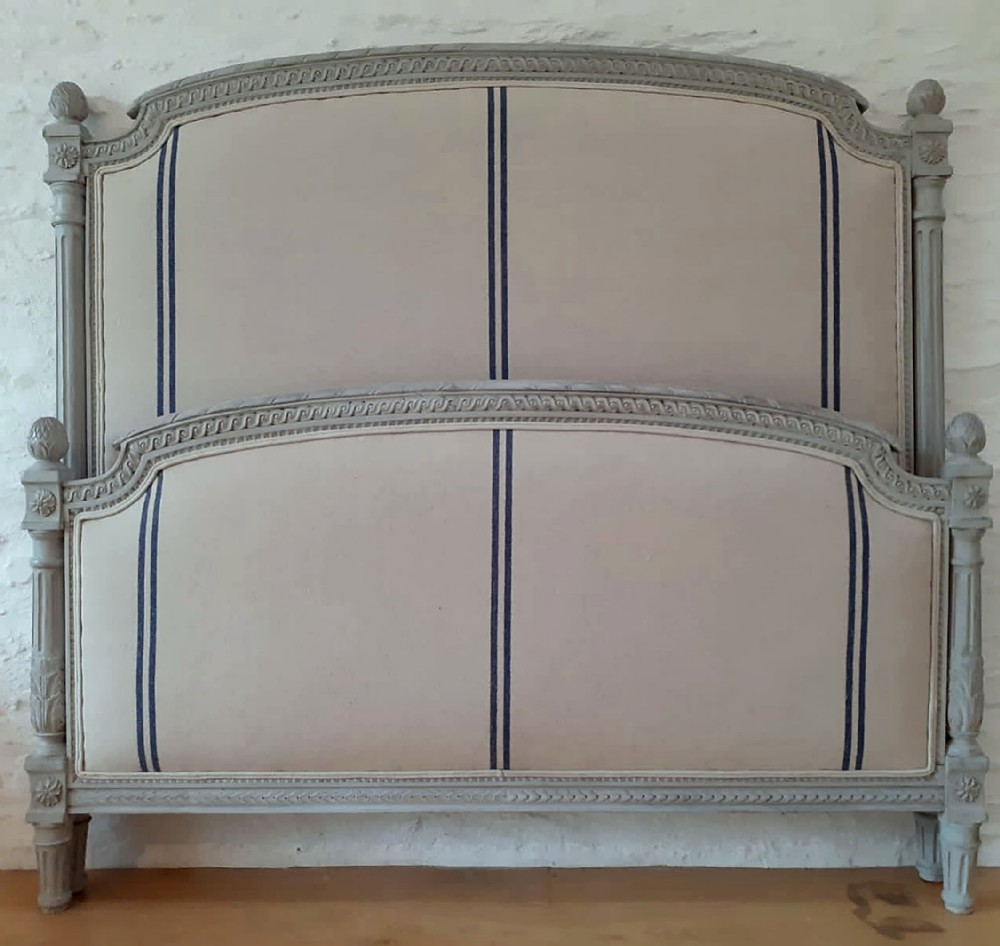 late 19th century c18901900 louis xvi style upholstered bedstead