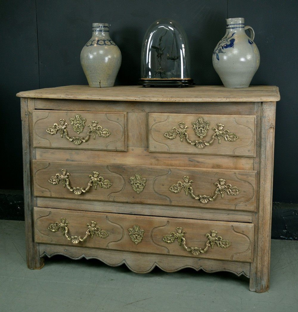 large early 18th century louis xiv oak commode