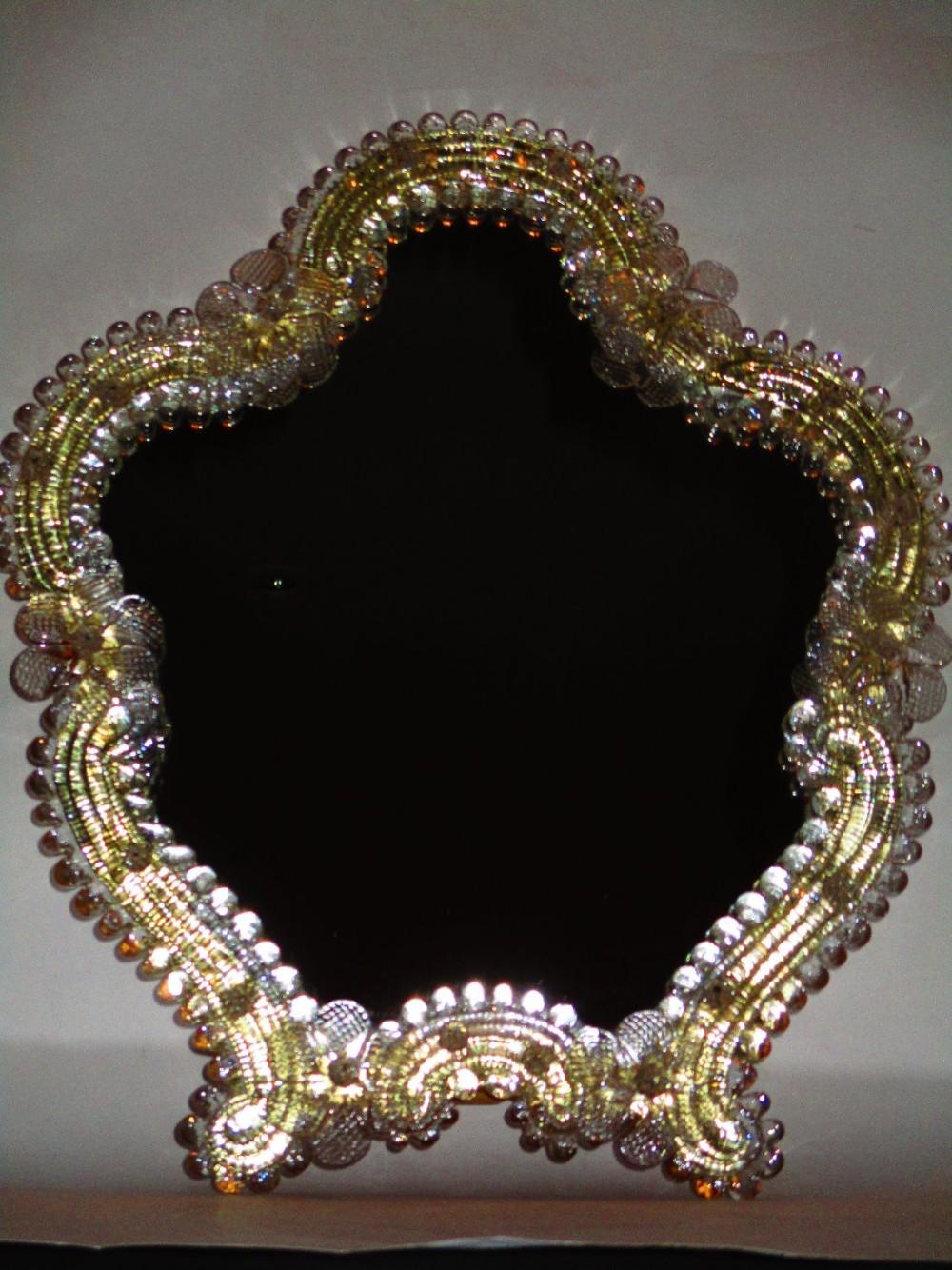 Italian Venetian Glass Mirror   435861   Sellingantiques.co.uk
