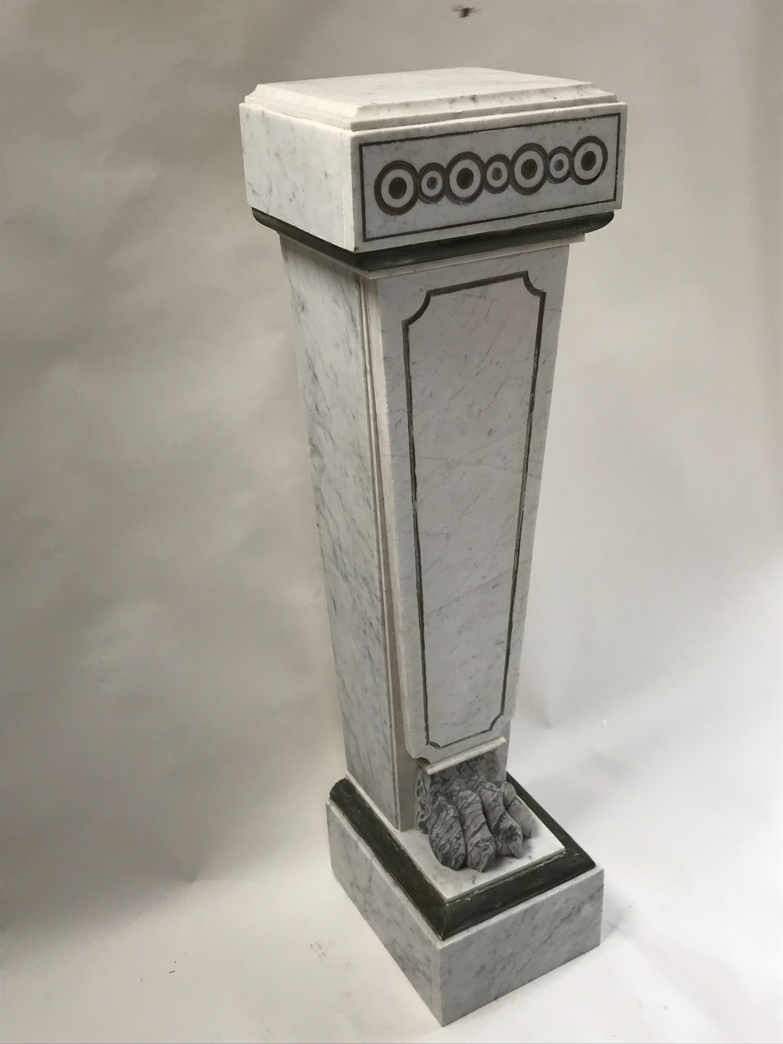 french empire style marble column