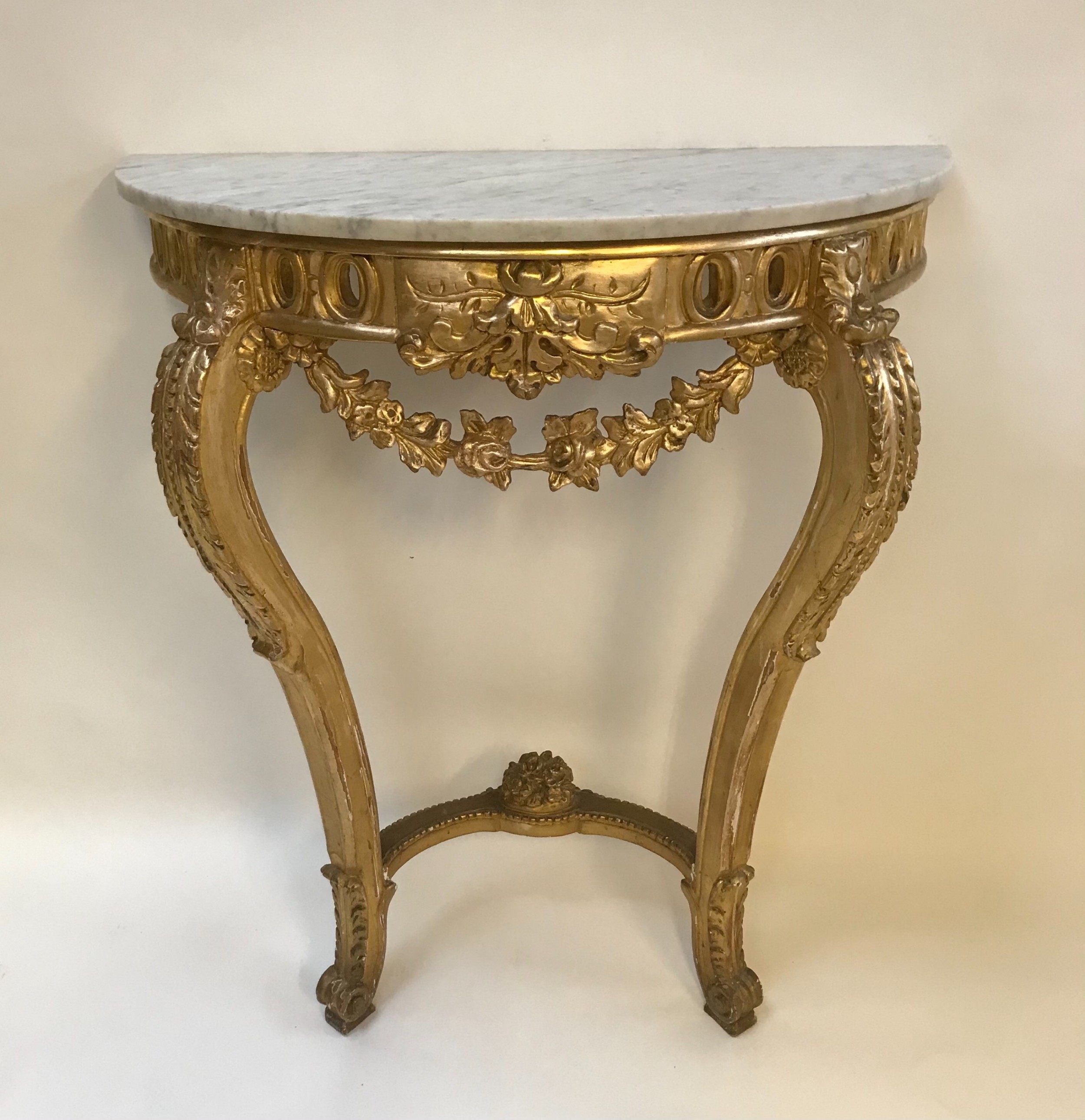 french gilded decorative console table