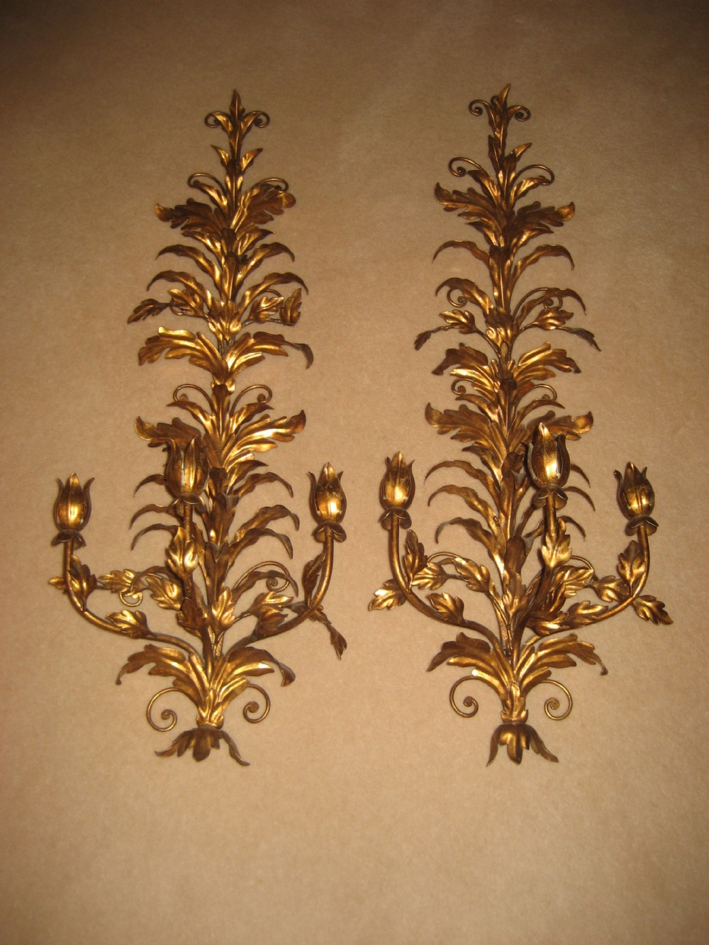 Large Metal Wall Sconces : Antiques - The UK s Largest Antiques Website