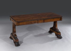 regency rio rosewood library table