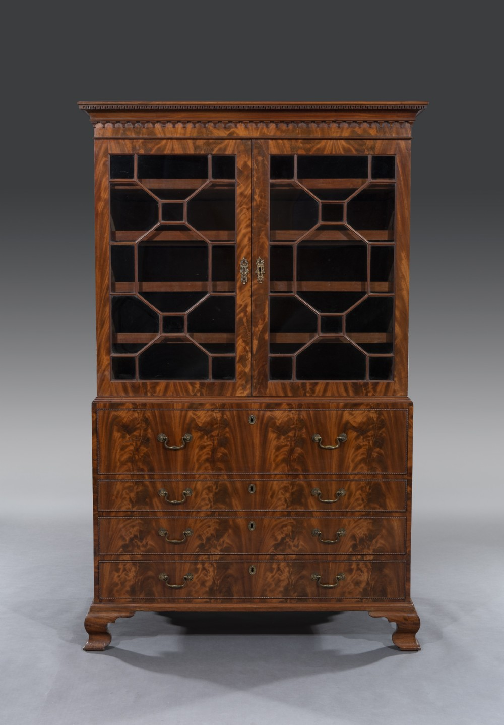 late georgian mahogany cabinet gillow