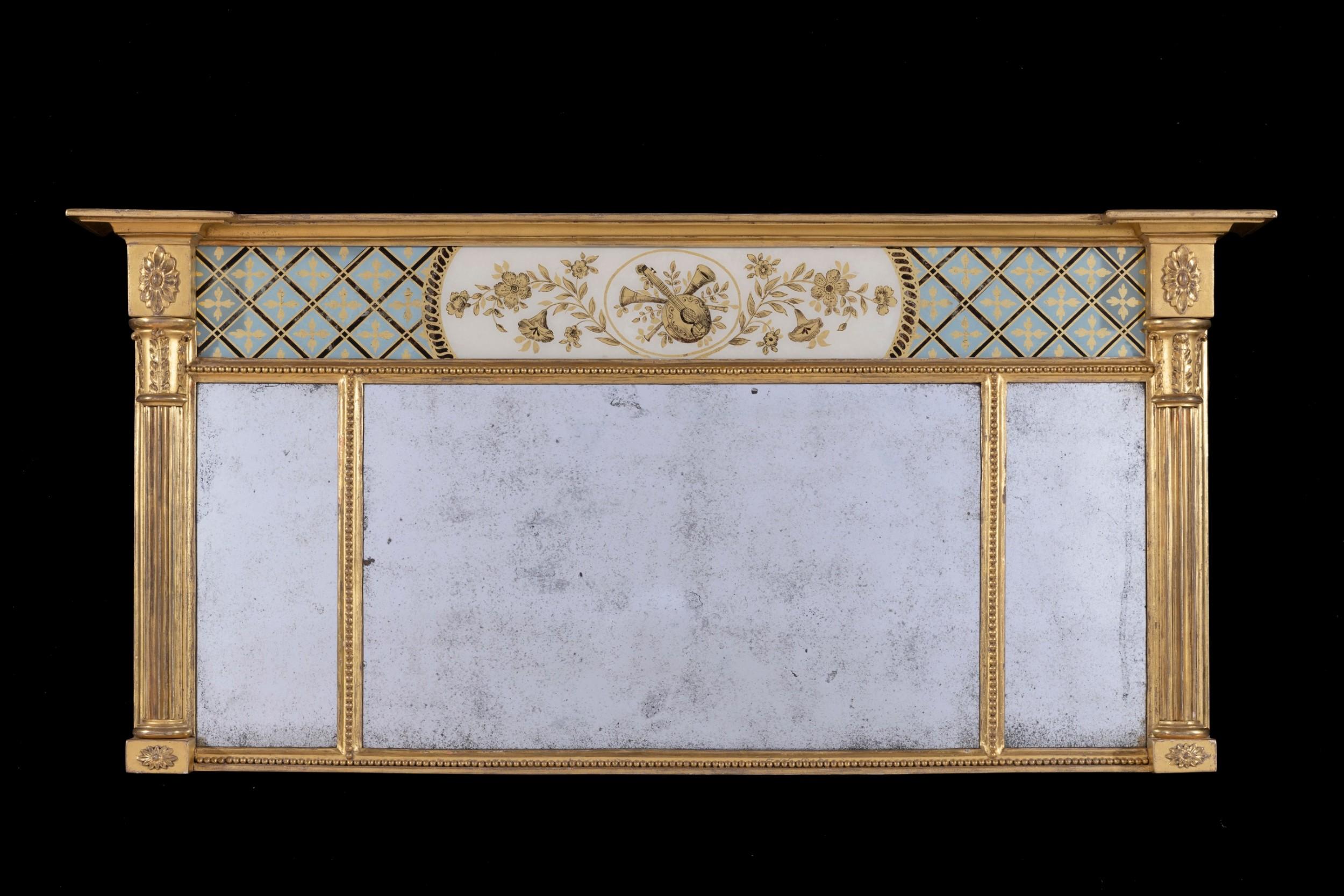 regency mirror overmantel