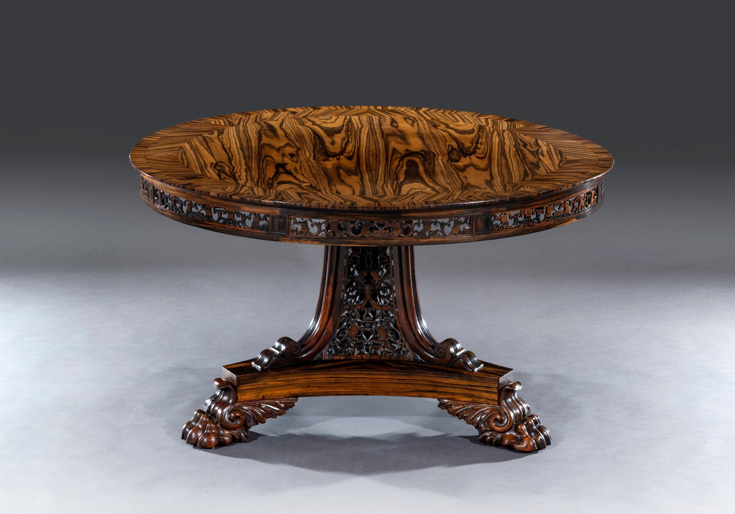 impressive coromandel centre table