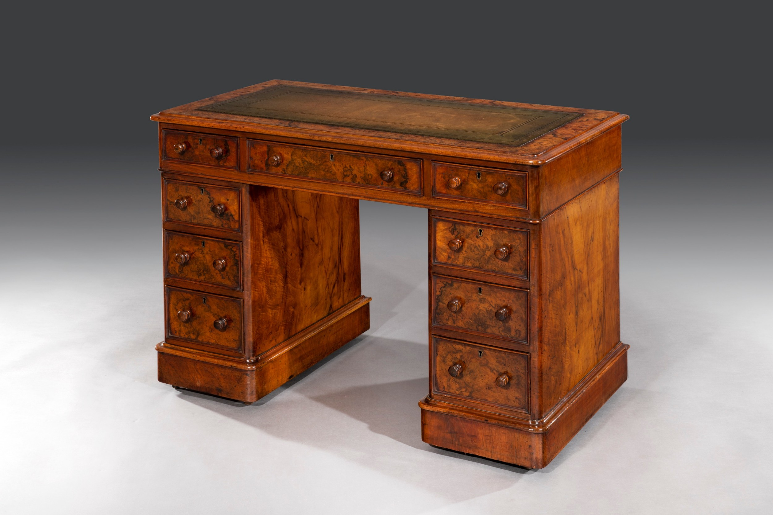 19th century walnut desk