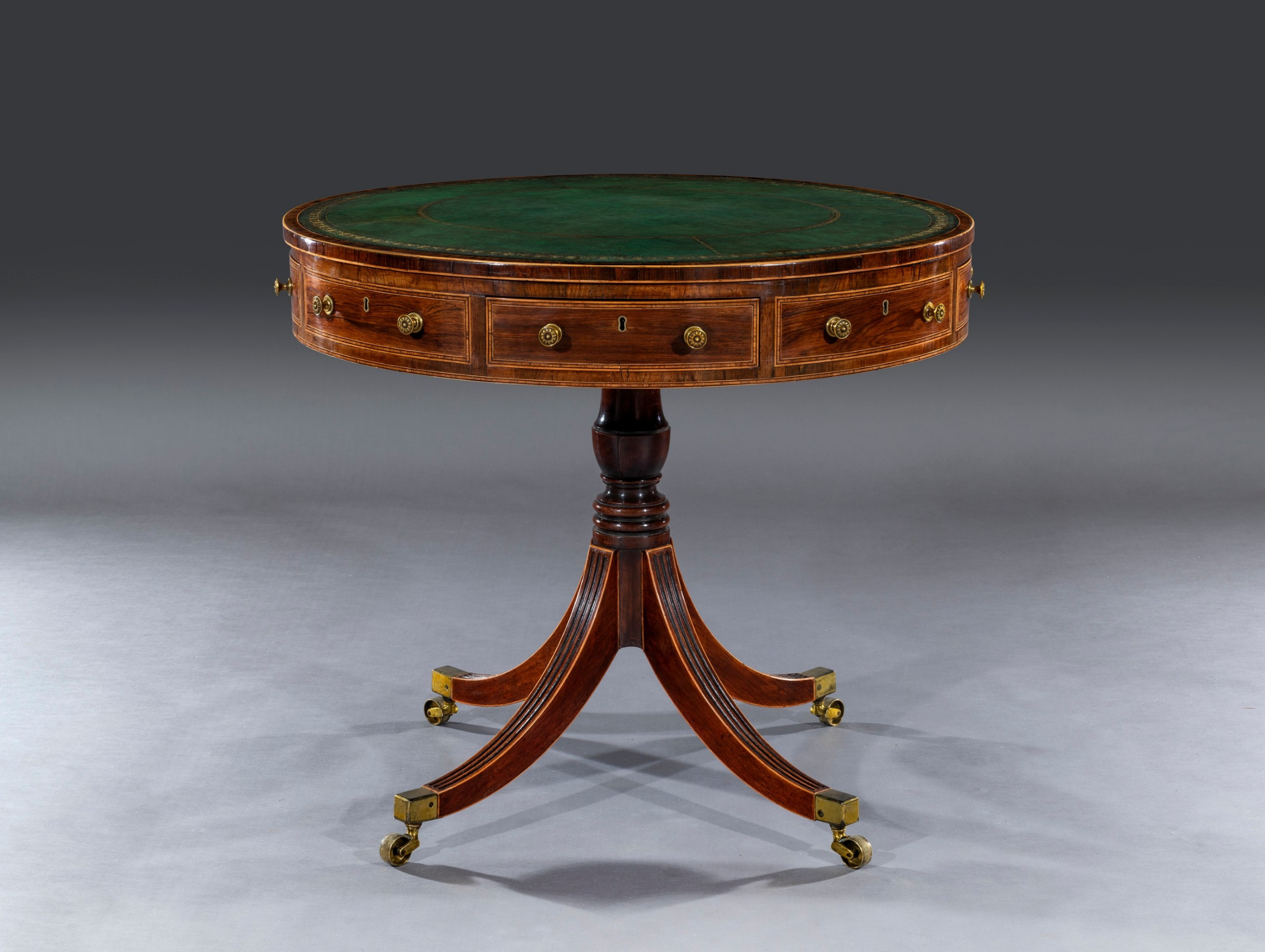 small 19th century drum table