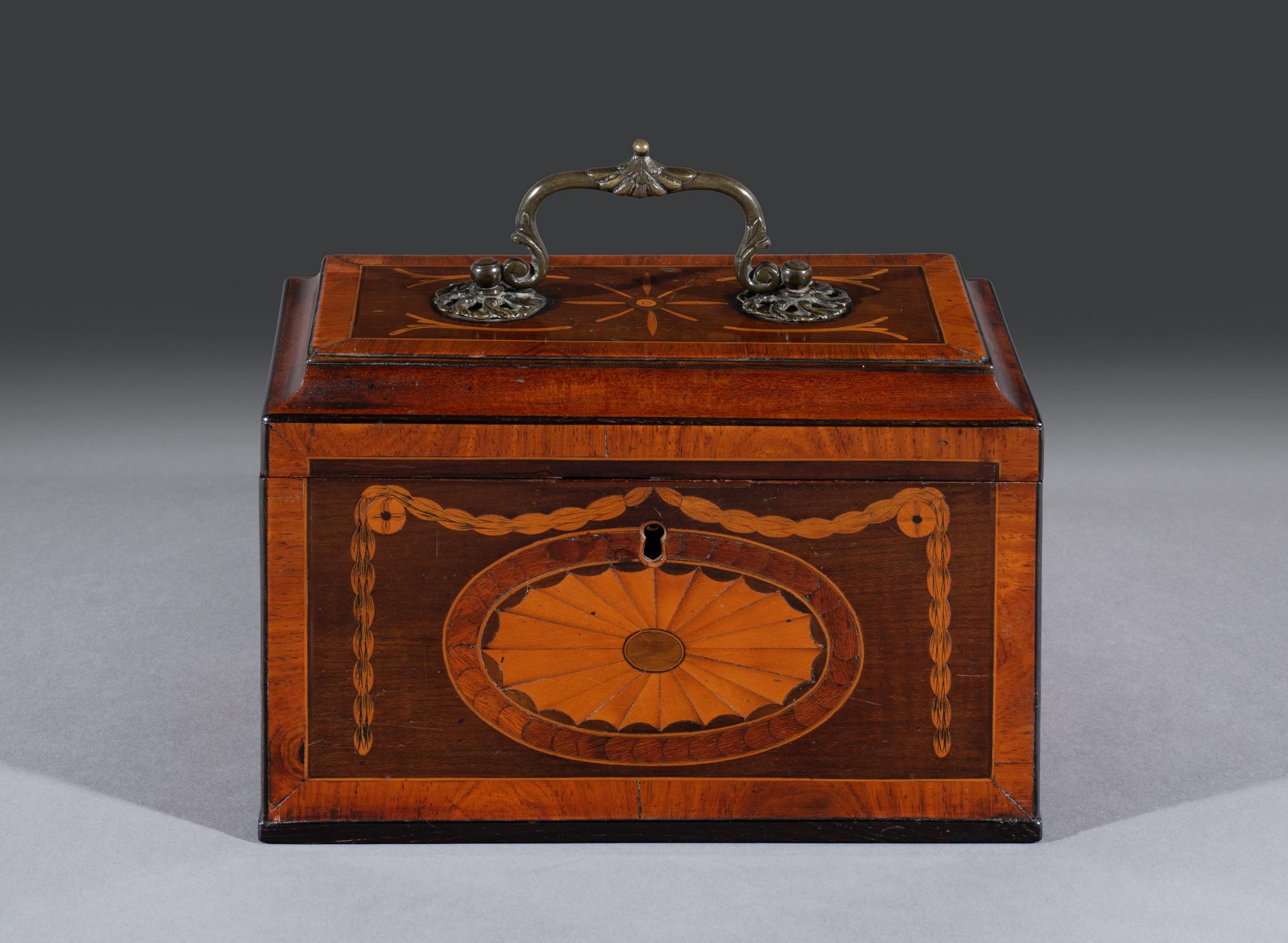 18th century inlaid tea chest