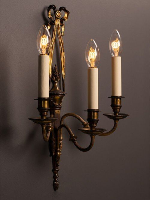 wall sconces pair of ribbon and bow