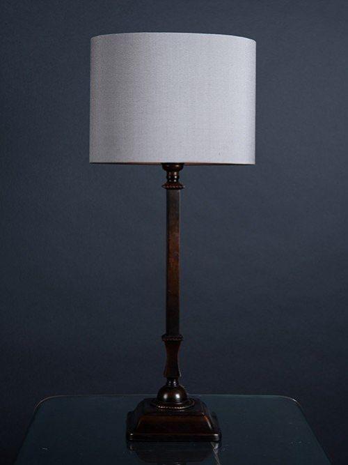 oxidised copper table lamp