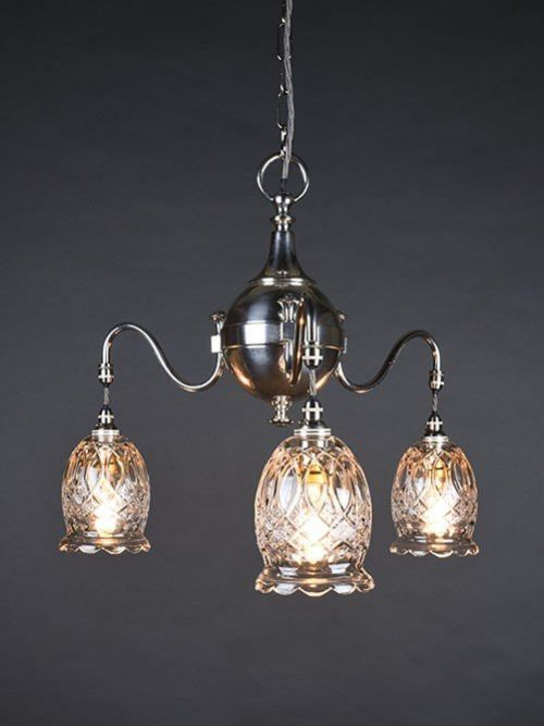 3 branch silver plate chandelier