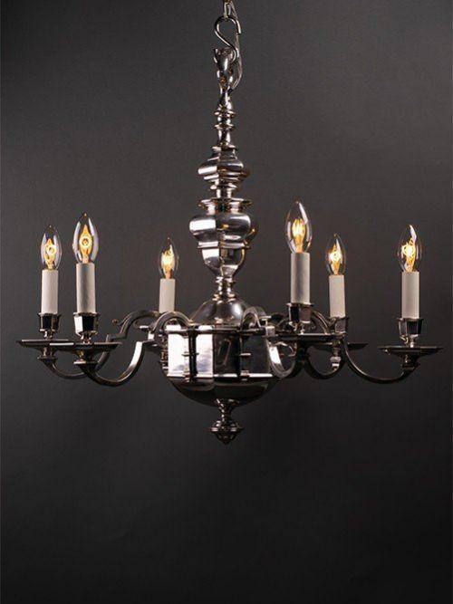 metal chandelier 6 branch hexagonal