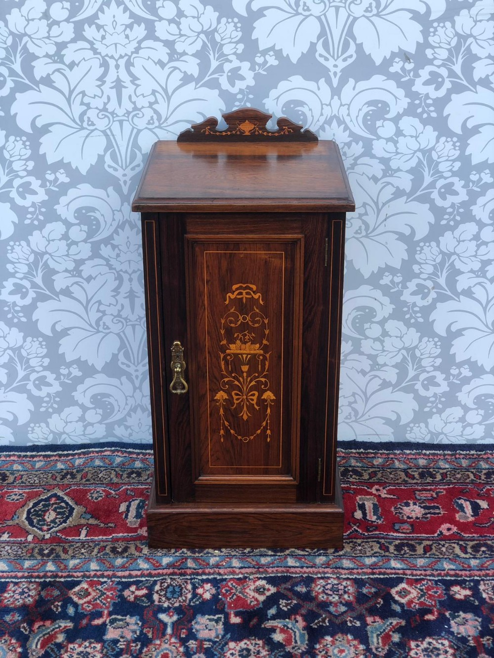 stunning fully restored rosewood inlaid bedside cabinet super quailty