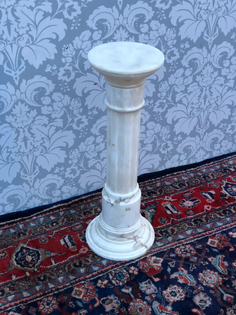 georgian design marble affect pedestal super quality original alabaster