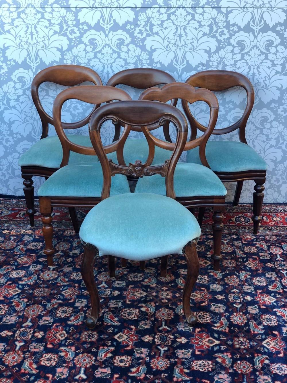 set of 6 harlequinn victorian mahogany ballon backed chairs all firm good order