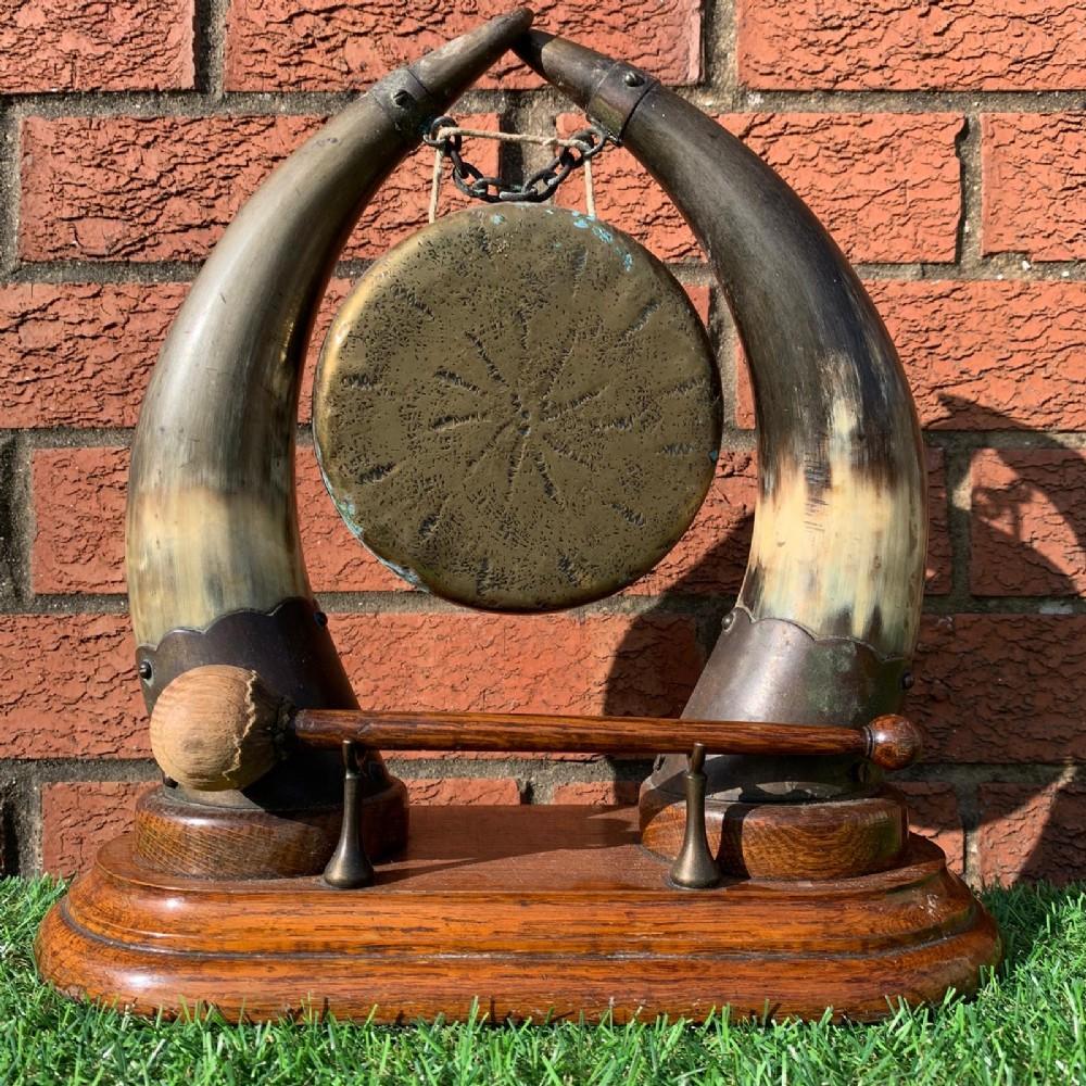 scottish dinner gone horn and brass mounts original