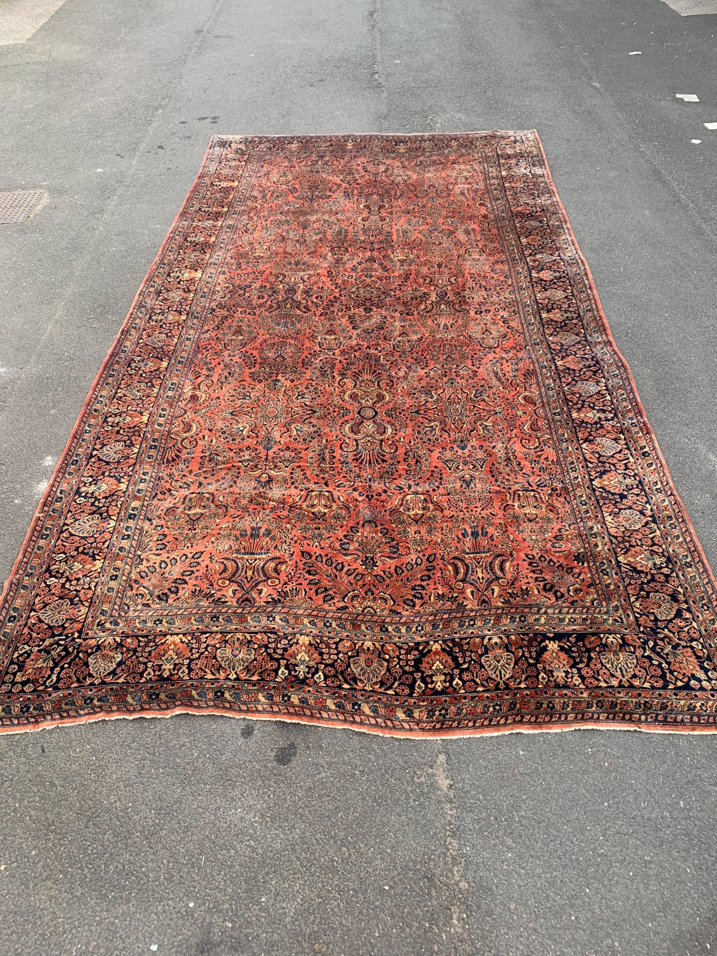 a large stately home antique rug measuring 24ft long x 13ft wide outstanding quality