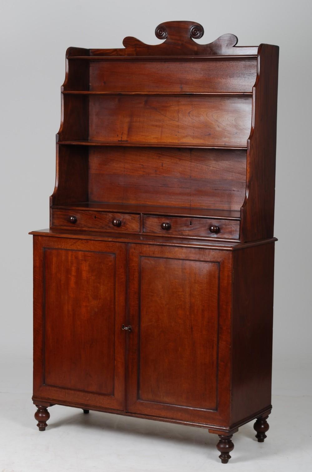 mahogany bookcasecabinet c1820