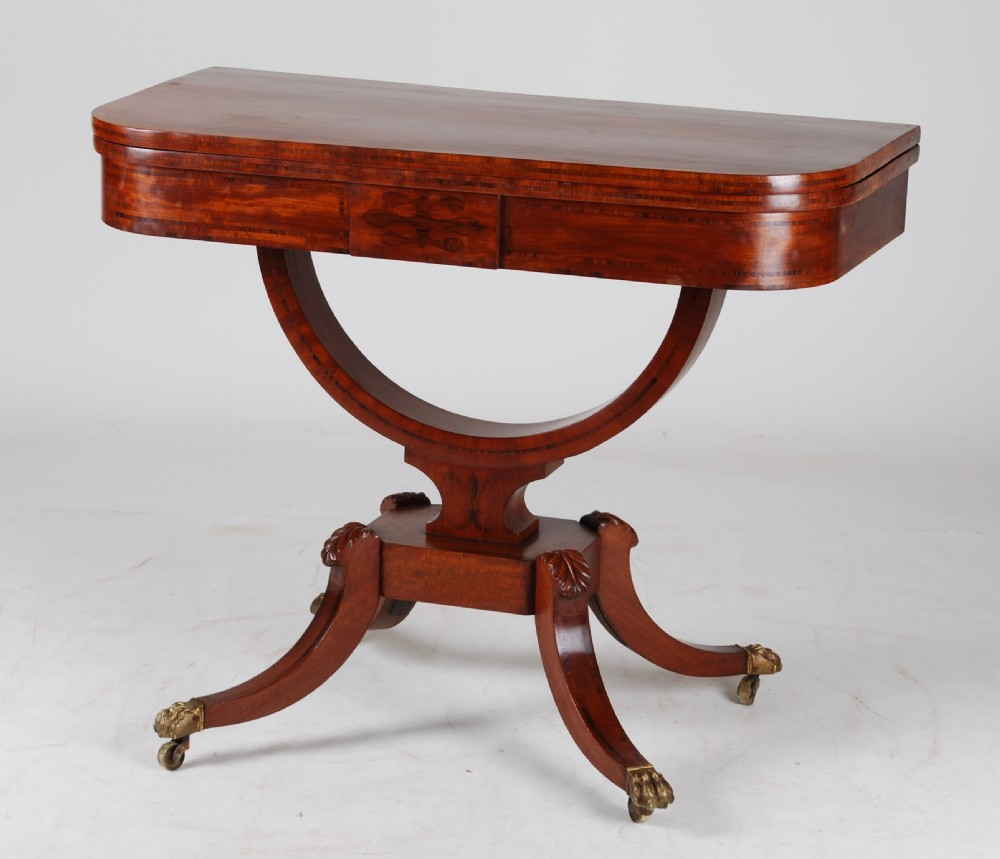 regency card table c1820