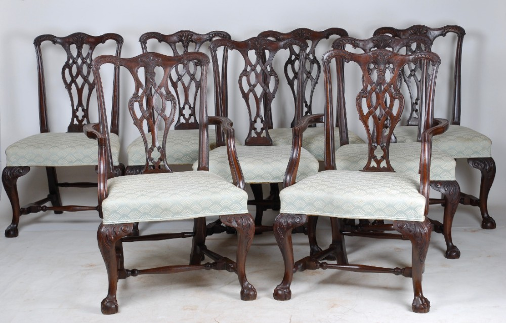 a set of 8 mahogany dining chairs c1900