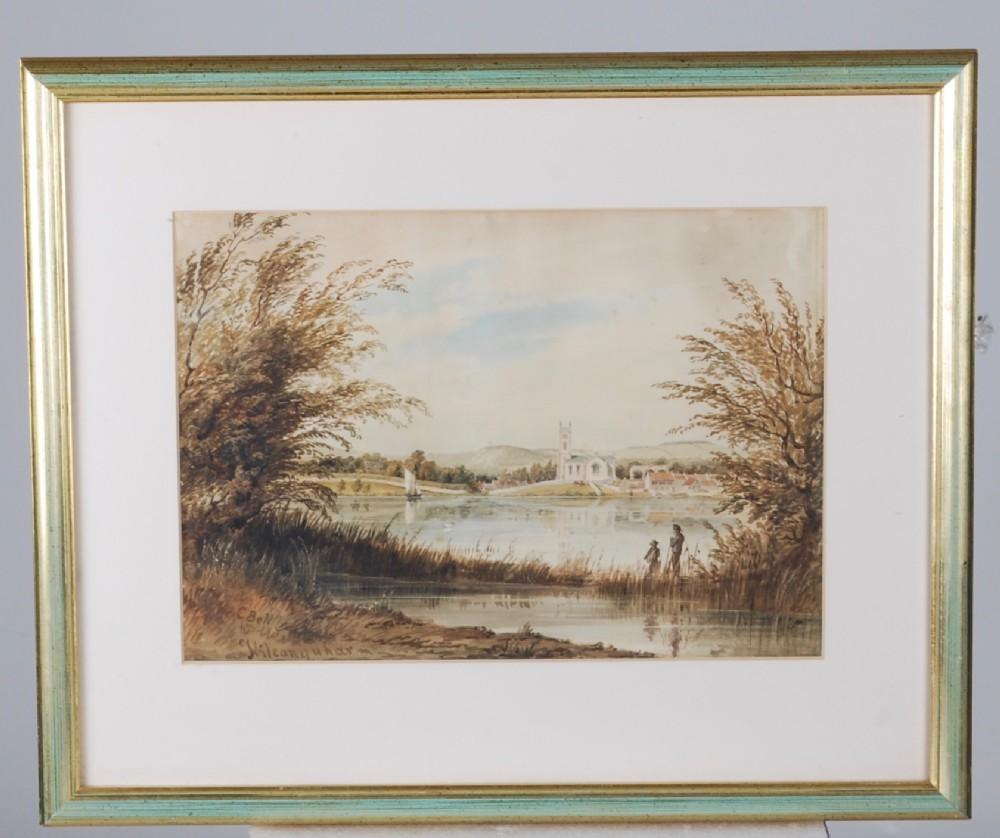 a scottish loch scene c1880
