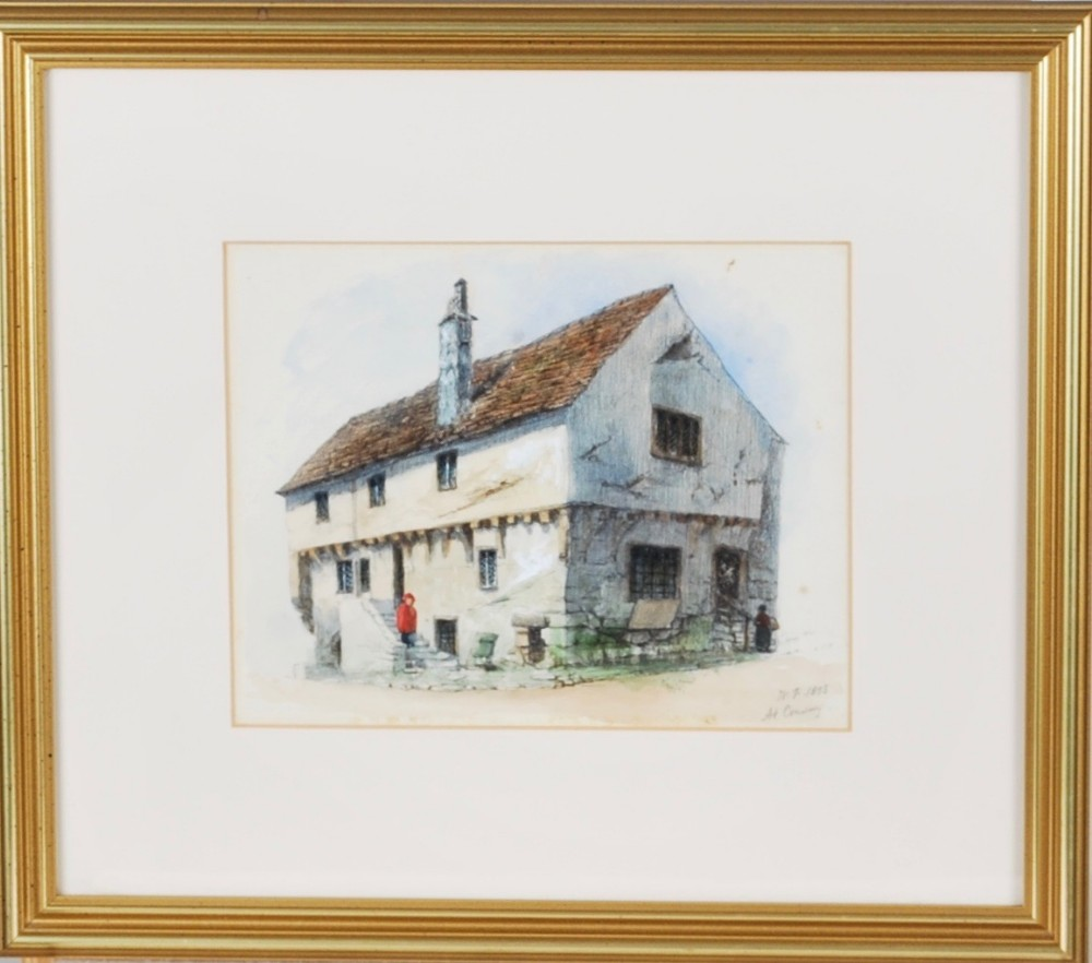 a charming watercolour of an old house at conway