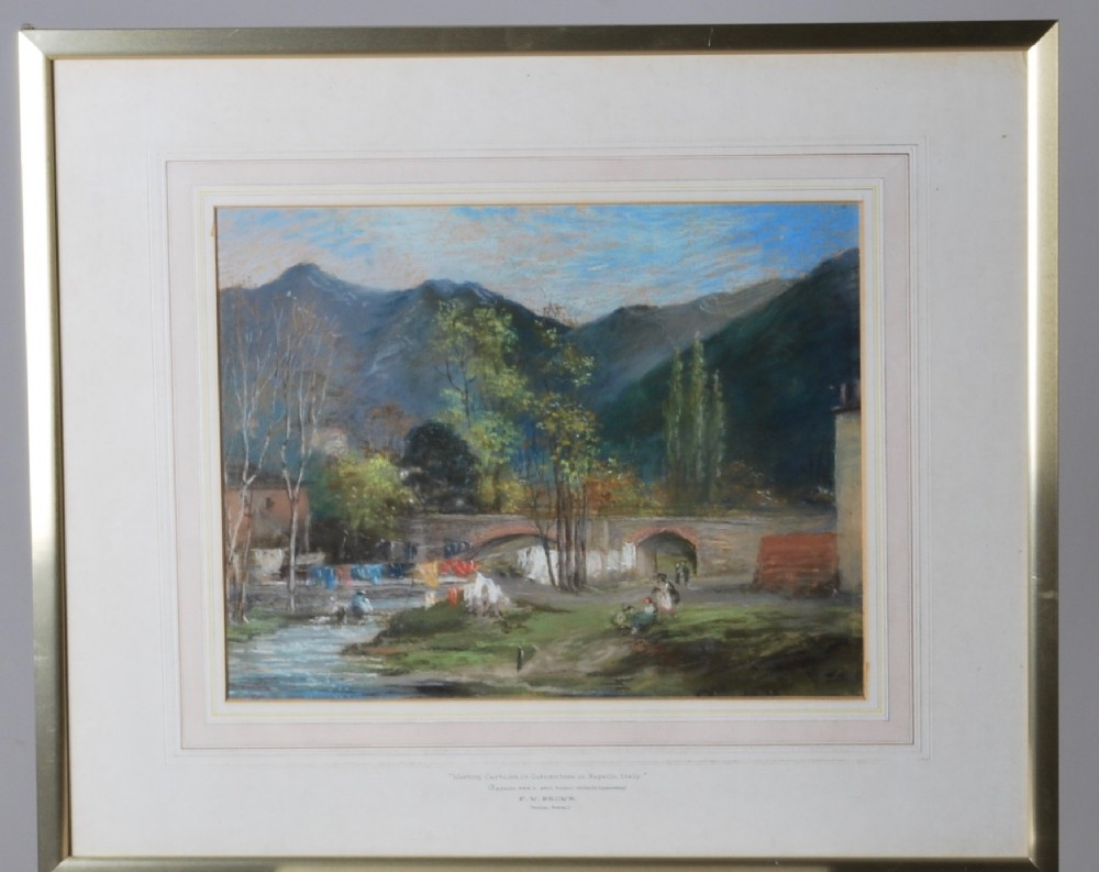 a pastel of autumn in rapallo italy c1880