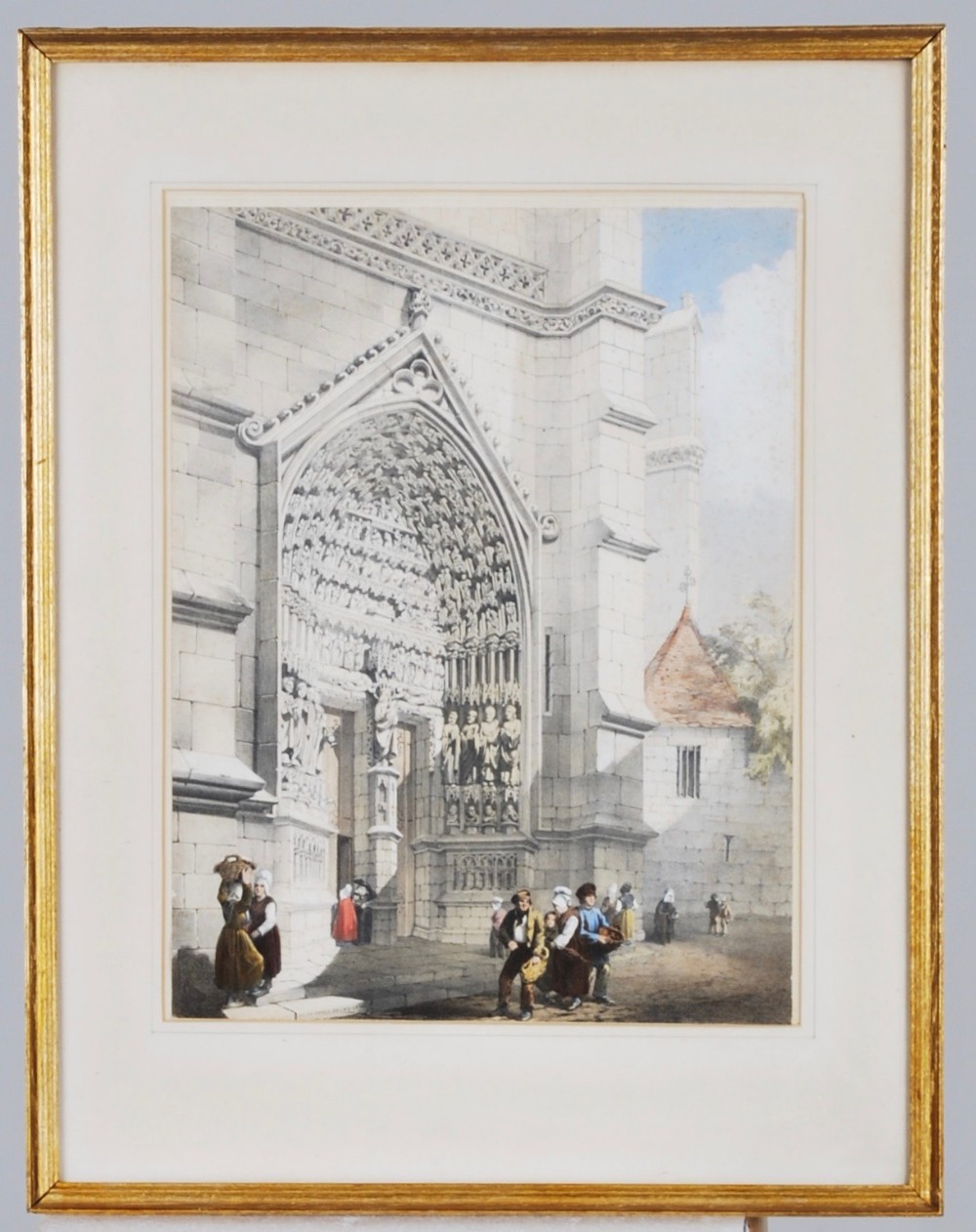 a print of amiens cathedral c1850