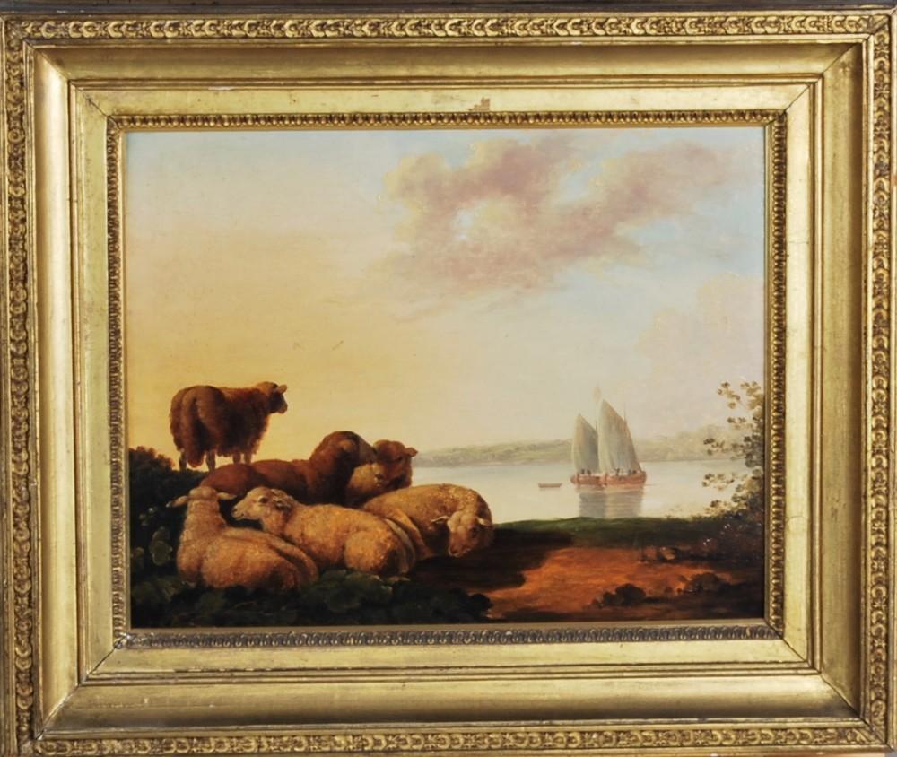 a pastoral scene c1850