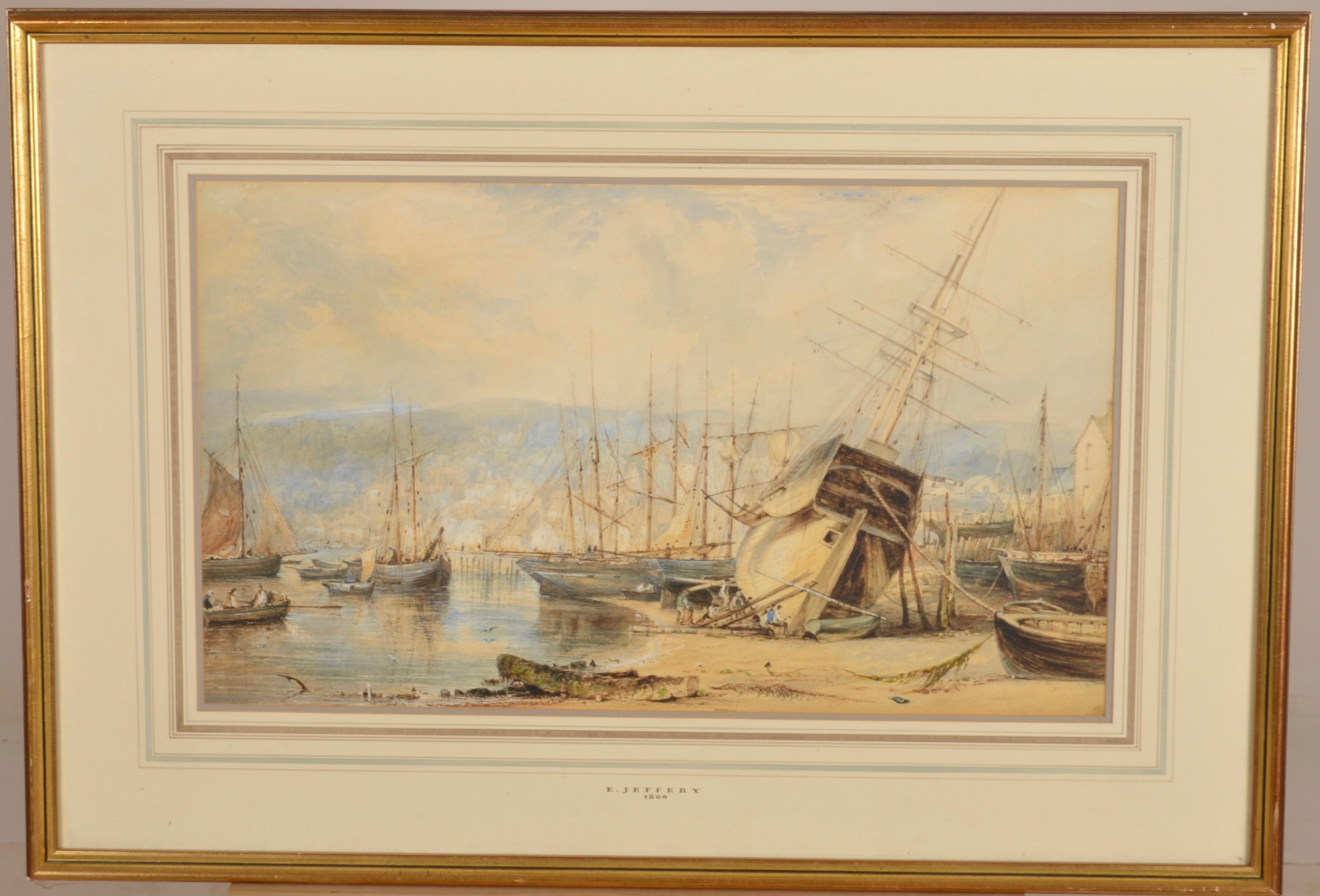 a watercolour by e jeffrey c1866