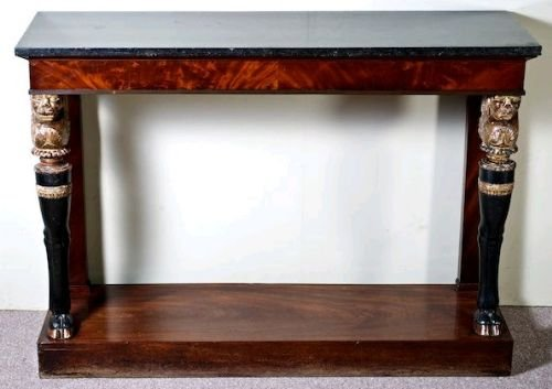 early c19th french empire console table