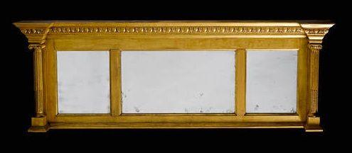 regency giltwood overmantle mirror