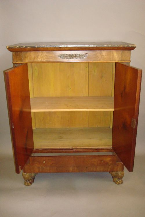 early c19th french empire side cabinet - photo angle #7