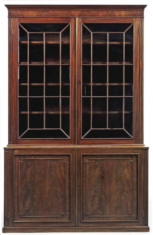 george iii gillows mahogany library bookcase