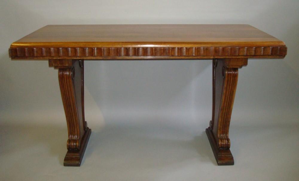 stylish early c20th walnut centre table