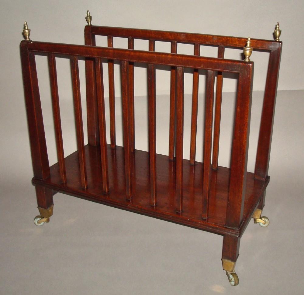an unusual regency mahogany canterburyfolio stand