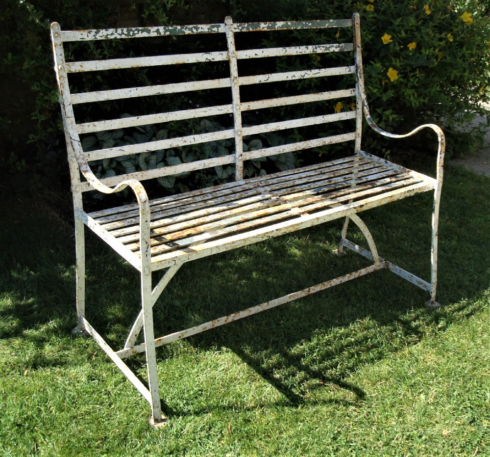 Regency Wrought Iron Garden Seat Bench 555476 Sellingantiques Co Uk