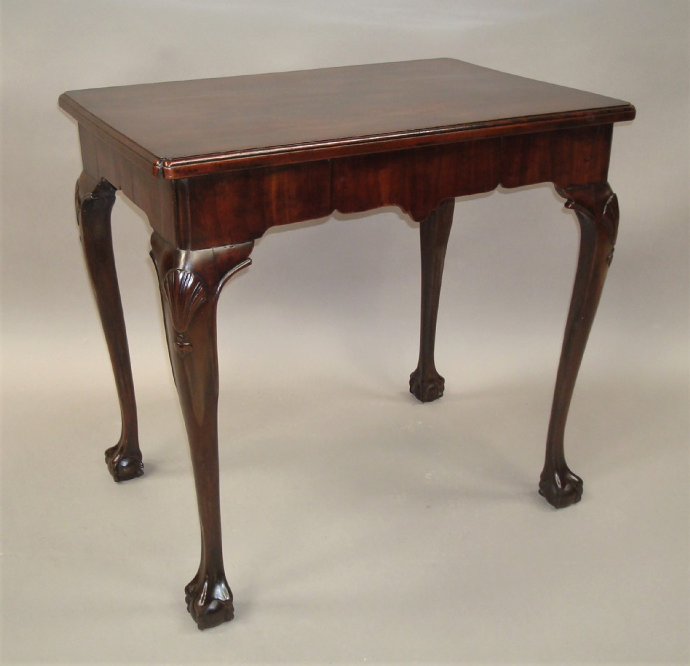 george ii mahogany irish silver table centre table