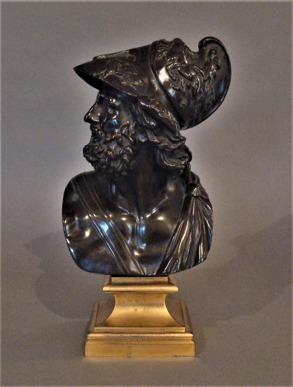 c19th bronze grand tour bust of ajax