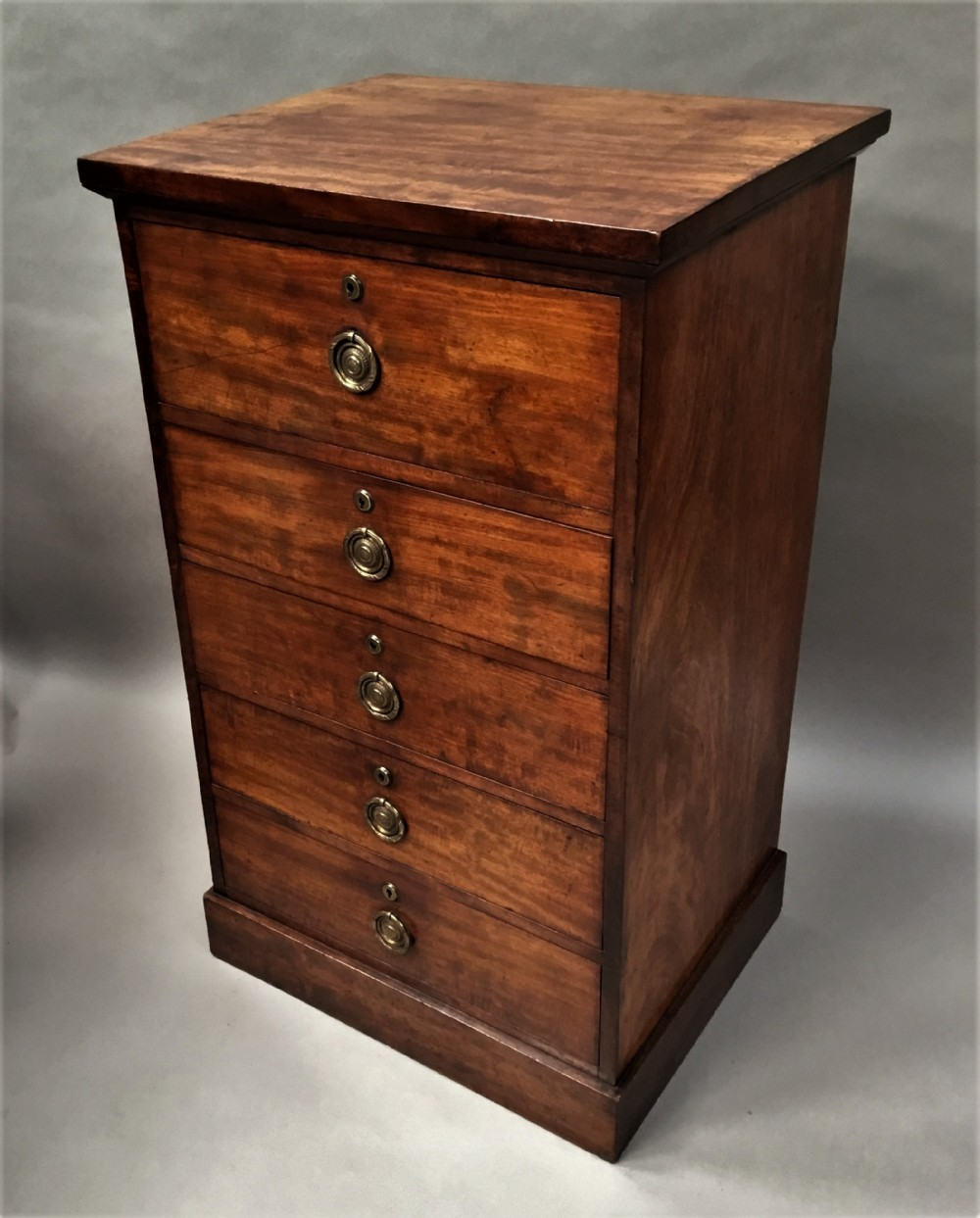 regency mahogany secretaire chest of drawers