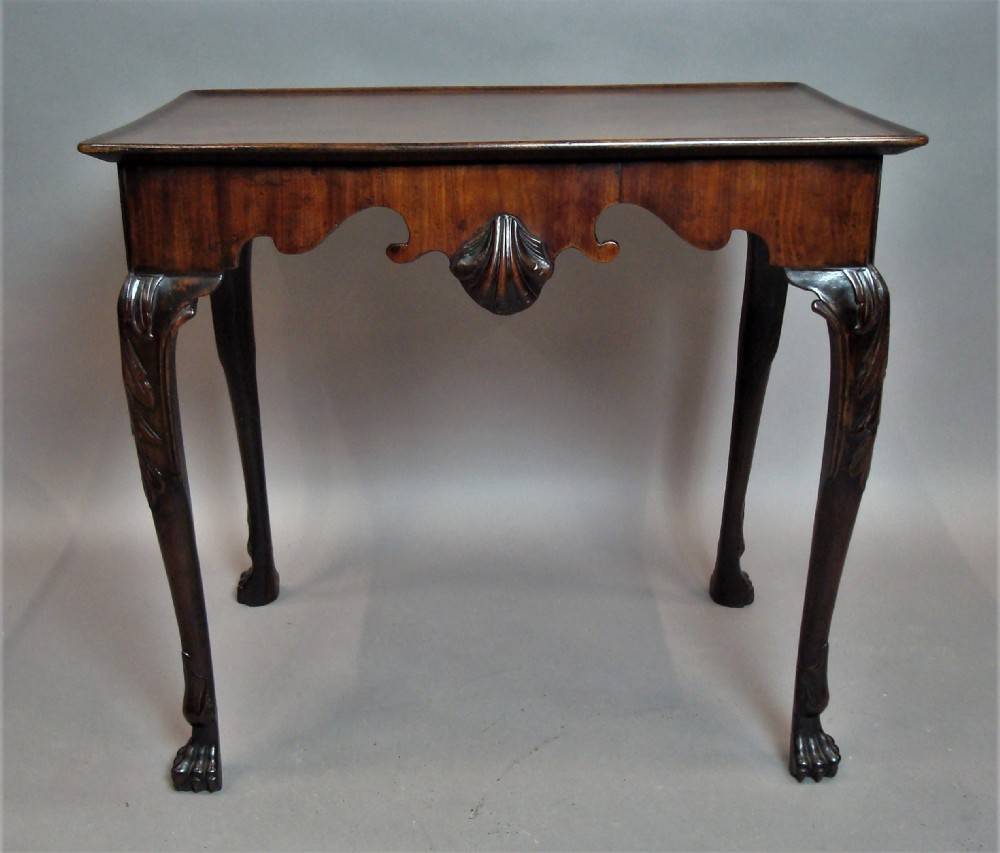 george ii irish mahogany silver table