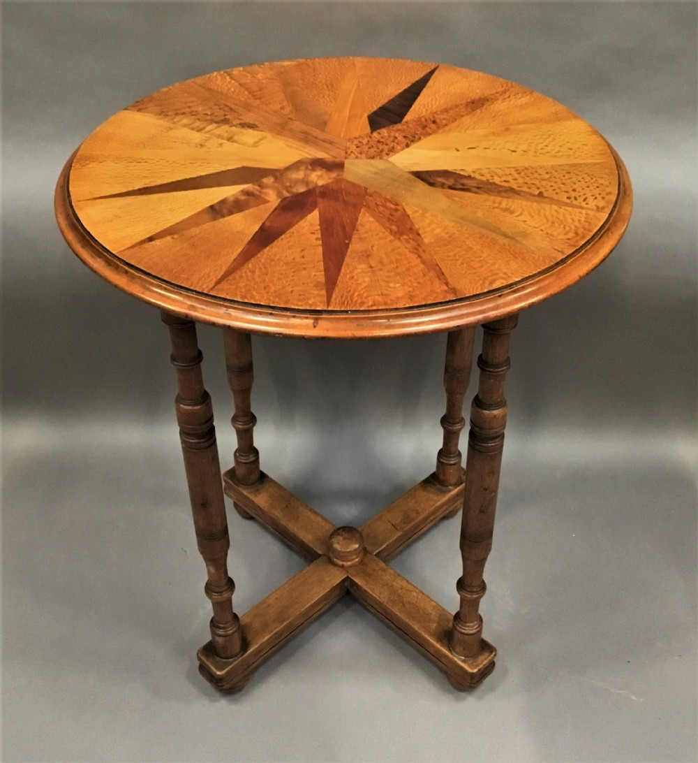 C19th New Zealand Specimen Wood Table In The Manner Of Anton Seuffert William Norrie 670250 Sellingantiques Co Uk