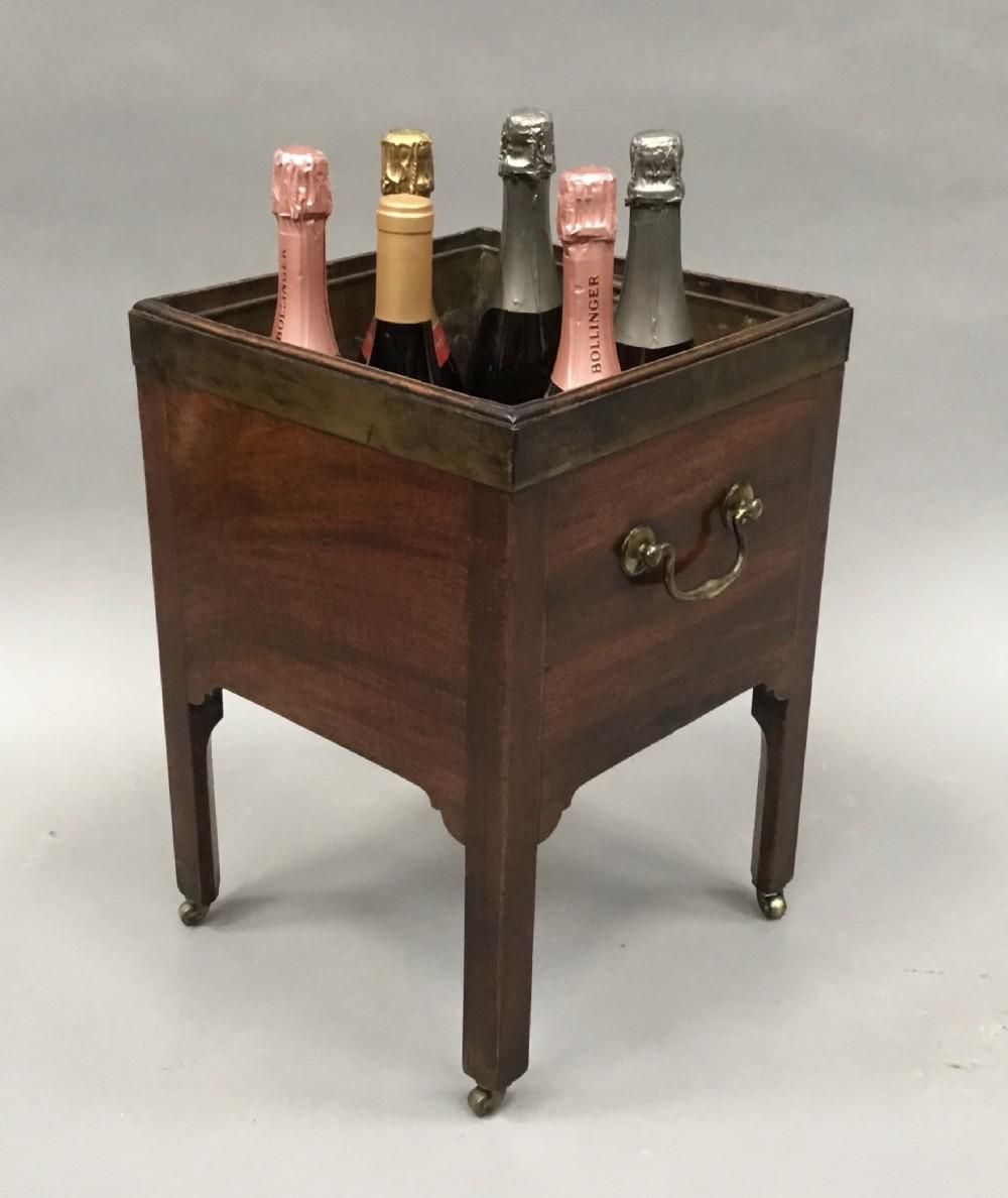 george iii mahogany brass bound open wine cooler jardiniere