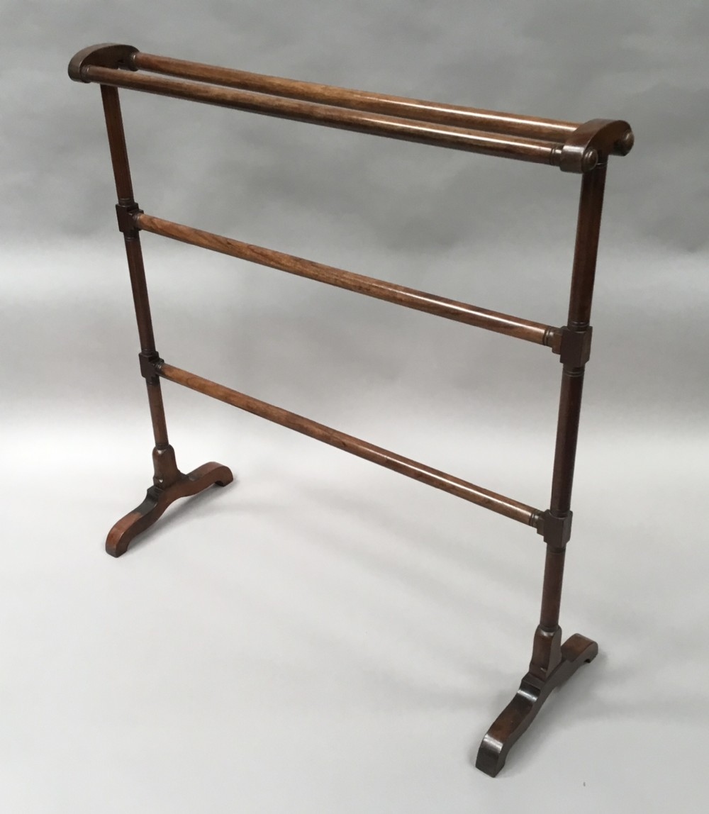 regency mahogany clothes towel rail of generous proportions attributed to gillows